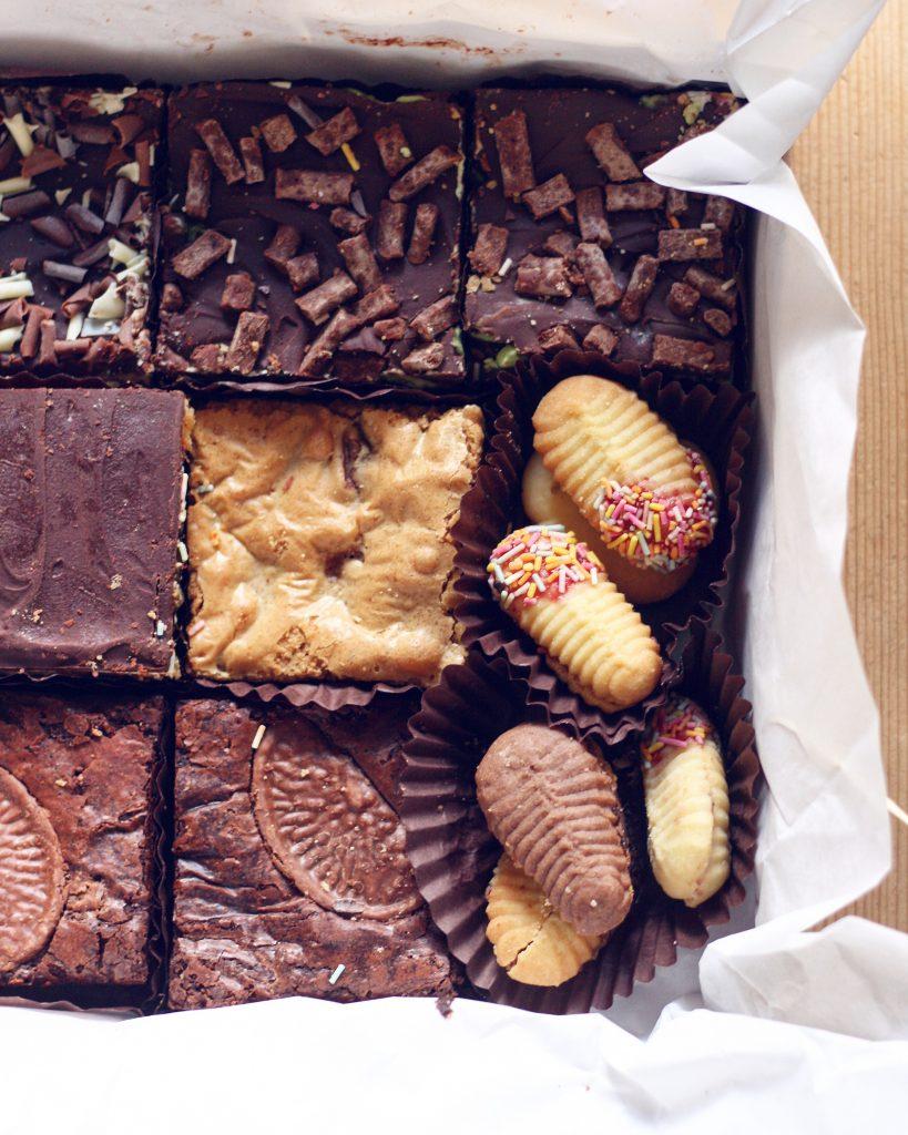 Ronas Delights box of mixed bakes