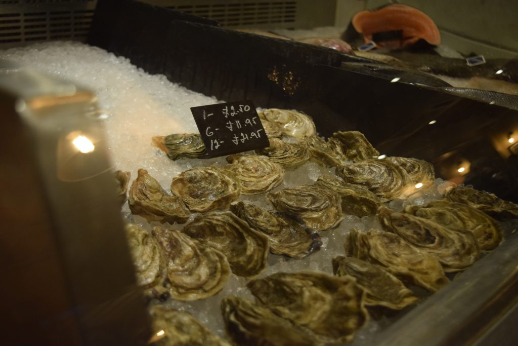 Oysters on Ice at Loch Fyne in Canford Cliffs
