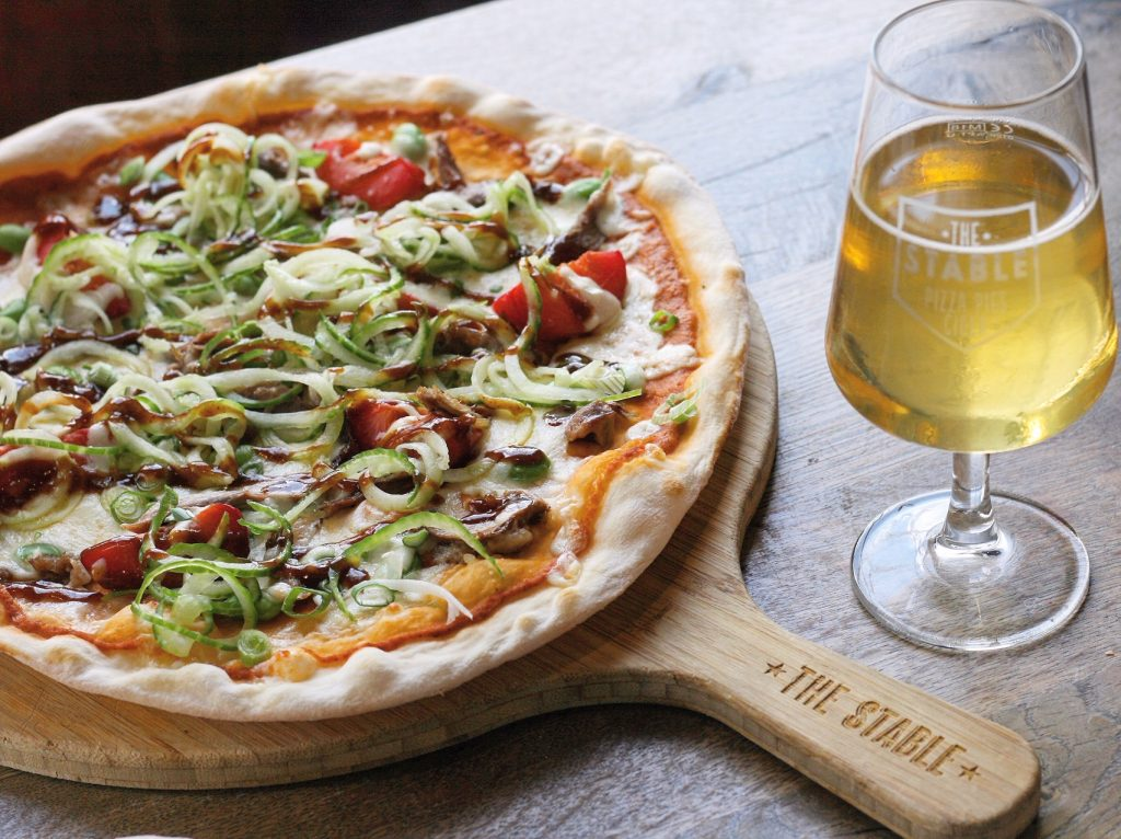 PIzza and Cider in The Stable Restaurant in Poole