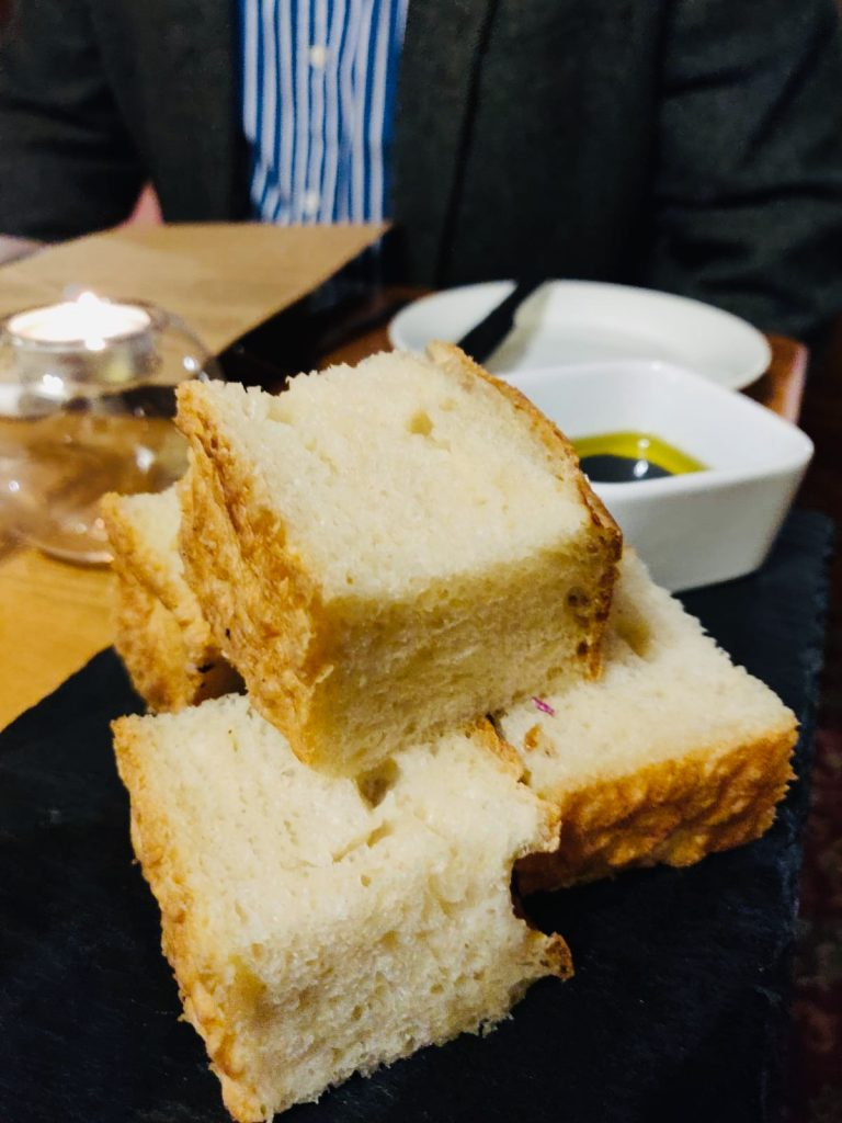 Bread and oils at West Bay Hotel