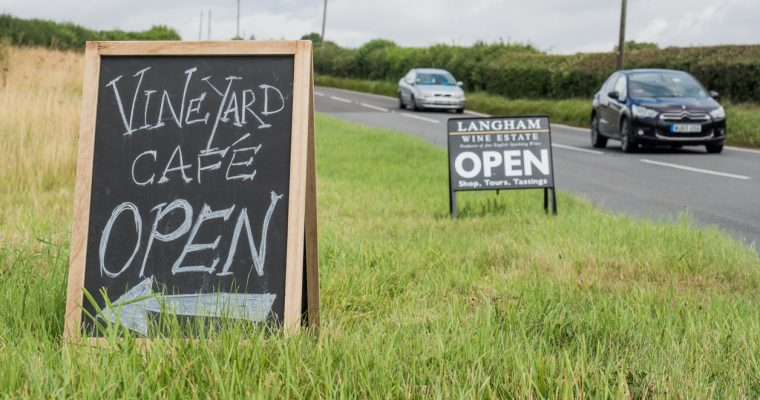 Review of the Langham Estate Vineyard Cafe in rural Dorset