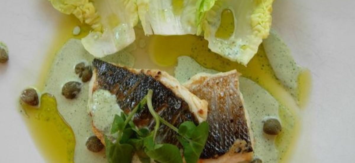 Recipe for Sea Bass with Watercress Sauce