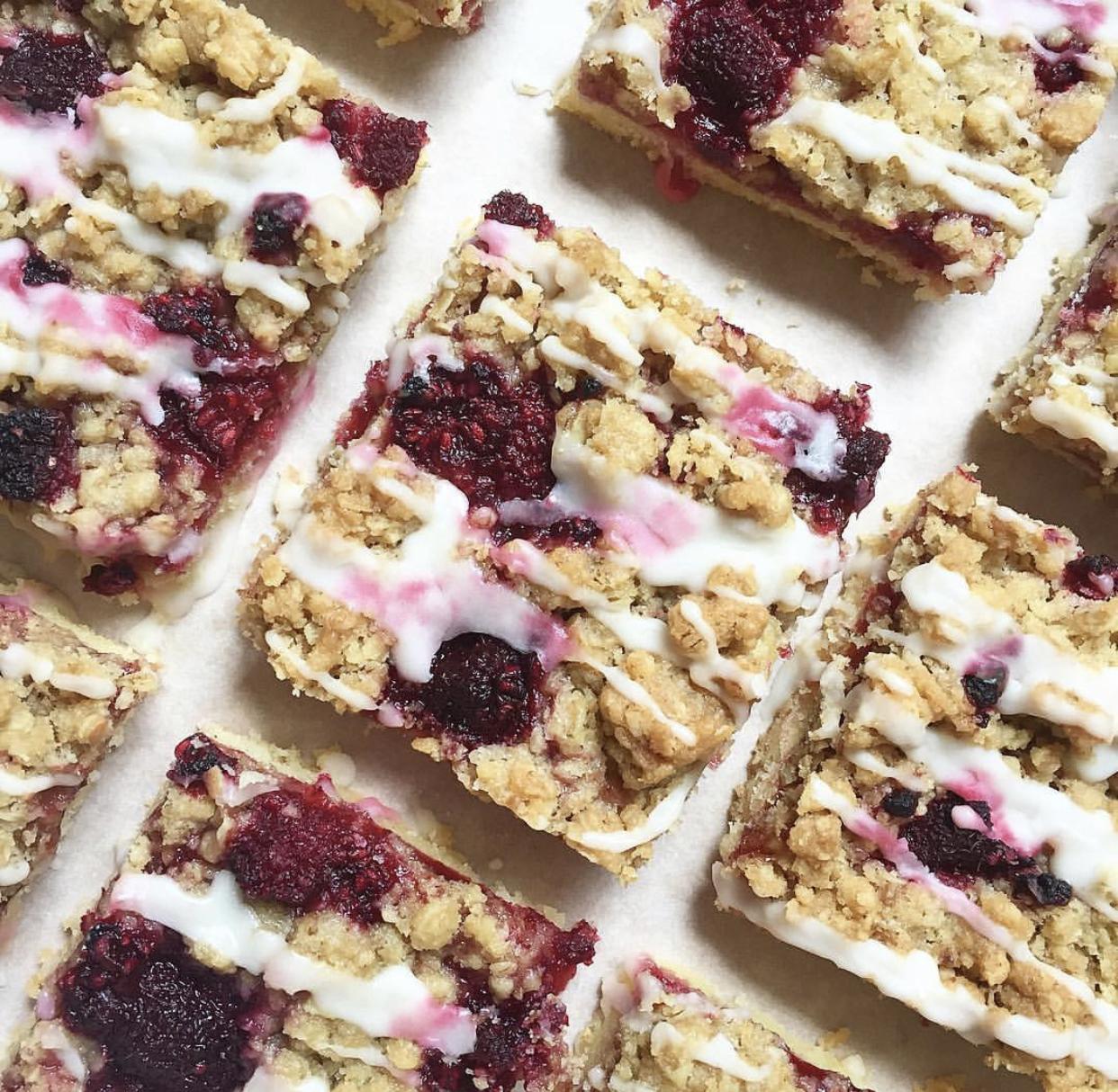 Recipe for Raspberry Crumble Bars